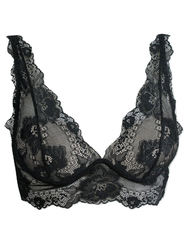 Reggiseno Donna Lormar Gem Bralette Push Up Gel in pizzo colore Nero
