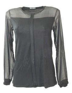 Maglia Donna Jadea 4875 Viscosa e tulle elegante e raffinata Nero S/M-M/L-L/XL