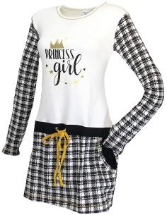 Camicia da notte corta Donna Iside caldo cotone interlock Tg S-M-L-XL 80102