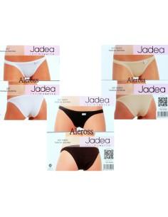 6 Slip Tanga Donna Jadea elasticizzato Bianco Nudo Nero 507