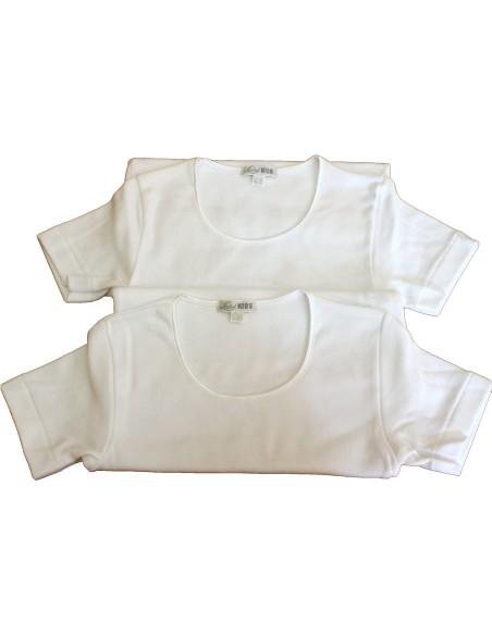 2 pezzi Maglia intima Bimba Bambina Ragazza LIABEL Kids PURO cotone felpato D26R