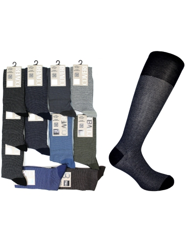 Long Socks Enrico Coveri 12 PAIRS Mercerized Cotton One Size 62ASS