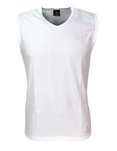 MEN'S Sleeveless V-neck Vest V-neck White 575