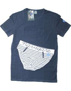 Coordinato completo intimo Uomo Enrico Coveri T-shirt Boxer M-L-XL Blu Nigh 1547