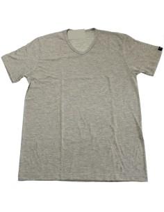 T-shirt Uomo Manica corta Solo Soprani Scollo V cotone jersey Grigio siviglia