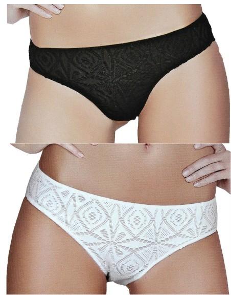 2 Brazilian Women's Briefs Jadea Measures 2 / S / 42-3 / M / 44-4 / L / 46 Milk Black 6685