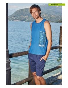 Completo Uomo Navigare Casa Tempo libero Mezza manica pantalone corto 2400105