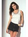 Woman Jadea short sleeve t-shirt cool round neck white cotton 4940