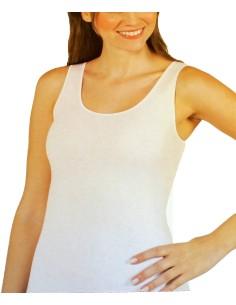 Maglia intima canottiera Donna cotone felpato bianca Tg 3-4-5-6-7 Blu&blu 1027