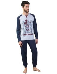 Pigiama Donna DISNEY BRONTOLO Maxi maglia cotone caldo invernale Panna 20571