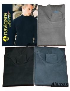 Lupetto Uomo Navigare Nero-Blu-Grigio Tg 4/M-5/L-6/XL-7/XXL cotone interlock 115