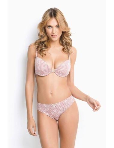 Coordinated Women's Underwear Jadea Push Up Brazilian Made in Italy Indaco 4938