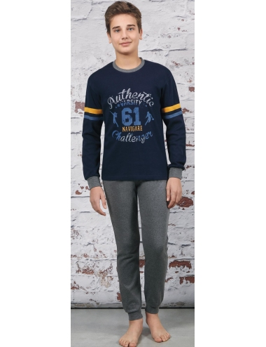 Navigating Pajamas Cotton boy Winter Interlock 10-12-14-16 years B15573