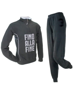 JUVENTUS Pyjama Survêtement Homme sweat JUVE original moitié coton zip Gris 14084