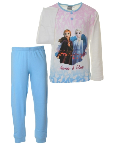 FROZEN Pigiama Bimba originale DISNEY cotone interlock Turchese 220013