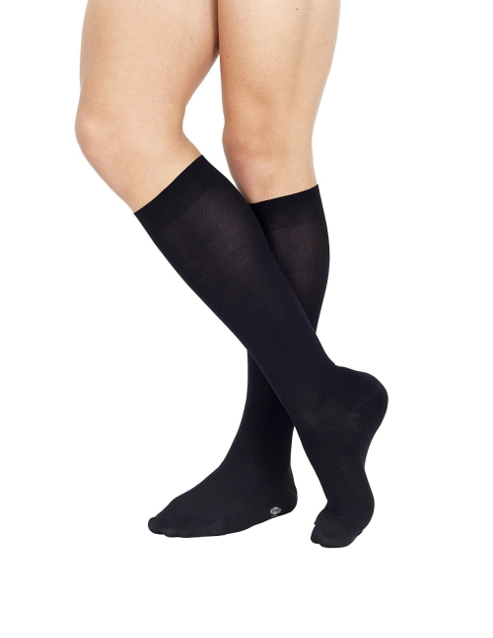OFFER 6 PAIRS men's long stockings Pompea Microfiber BLACK 064