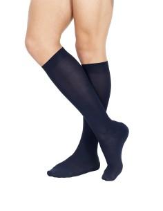 OFFERTA 3 PAIA calze lunghe uomo Pompea Microfibra BLU 064
