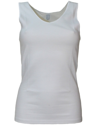Vest undershirt Women fleece white blue & blue 1027