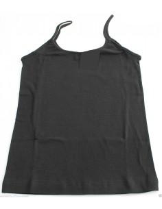 Top canottiera maglia intima Donna MAP Tg S-M-L-XL colore Nero puro cotone 1133