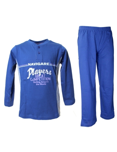 Boy's pajamas male Navigare Long sleeve 3-4-5-6-7-8 Years Cotton Jeans 16178