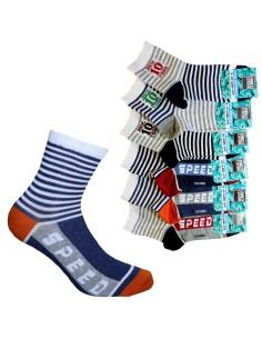 6 calze corta Bimbo calza Ragazzo cotone mercerizzato Enrico Coveri 196