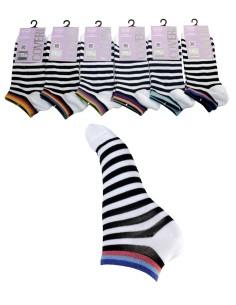 6 Paia calze corte Donna Enrico Coveri fresco cotone mercerizzato Mango nW2c