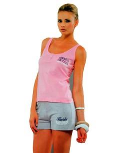 Pigiama Donna Enrico Coveri Canotta spalla stretta pantalone corto 4-5 Fuxia6653