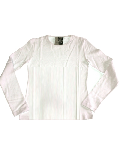 Maglia sottogiacca Donna MAP cotone interlock manica lunga Misura 4 Bianco 1617