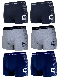 Slip Uomo ENRICO COVERI 6 pezzi mutande elasticizzate es1695