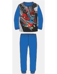Pigiama Bimbo Uomo Ragno Spider Man caldo cotone interlock 3-4-5-6-7 anni 16193