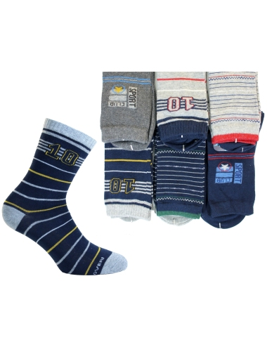 Short girl socks in warm cotton by Enrico Coveri 6 assorted pairs GS2
