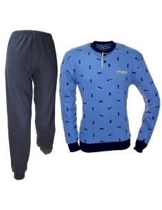 NAVIGARE Pigiama Uomo Caldo cotone Interlock 46-48-50-52-54  Jeans 2141139
