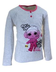 Girl's warm cotton interlock pajamas Party Crazy Farm pink pajamas 32188