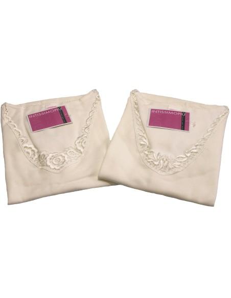897 Women's Half Sleeve Wool and Cotton Underwear