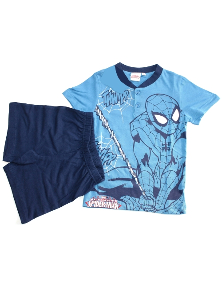 Pigiama Bimbo Spider man originale Uomo Ragno misura 9 anni mezza manica 16046