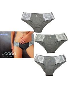 3 Slip Donna elasticizzato Jadea misura 3/M Jeans-Grigio-Verde 6346