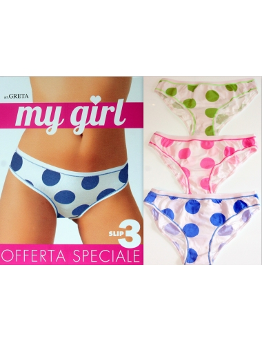 3 Pieces DONNA My Girl TIZIANA elasticated briefs