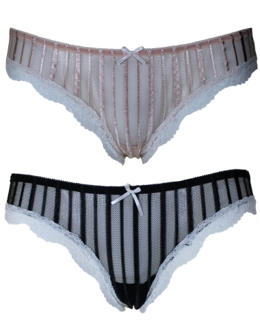 2 Slip Donna Vita Bassa Jadea elasticizzati in tulle e pizzo Misure 3-4-5 6051