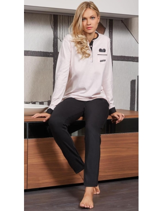 Pigiama Donna DIMENSIONE DANZA fresco cotone jersey manica lunga S-M-L-XL 20171