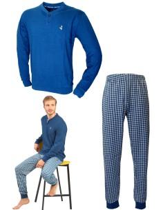Pigiama Uomo Navigare Fresco Cotone Jersey pantalone manica lunga 2141193