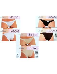 Women's Jadea Stretch Thong Briefs White Nude Black 507