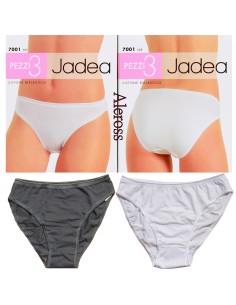 3 Slip donna Jadea liscio elasticizzato Bianco-Nero 3/S-4/M-5/XL-6/XXL 7001