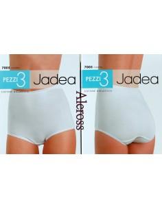 3 slip donna Jadea modello culotta cotone bielastico Tg 4-5-6-7-8 Bianco 7005
