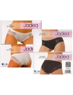 Slip Donna Jadea Invisibile Taglio Laser Tg 3/M-4/L-5/XL Bianco-Nero-Nudo 8000