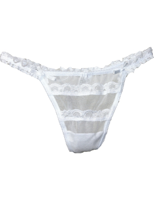 Women's Thong Jadea Tulle and Lace White Color 1462