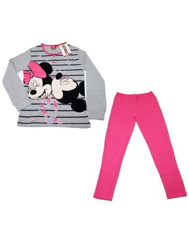 8 Pyjamas Interlock Disney Filles Coton Minnie 10 Pur Mickey 9 Tg rgqrK8Ry