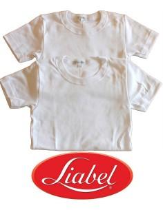 2 PEZZI Maglia intima Bimbo Liabel Kids PURO cotone felpato da 3 a 14 anni D25R
