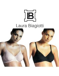 Reggiseno Laura Biagiotti senza ferretto Tg 3-4-5-6-7-8 coppa C Nudo Nero 990226