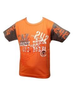 OFFERTA Maglia T-Shirt Bimbo LOONEY TUNES Puro cotone anni 4/6-8/10 Arancio V1