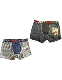 Boxer Mutanda Uomo DISNEY Gamba di Legno M-L-XL Grigio Jeans Elasticizzato 39038